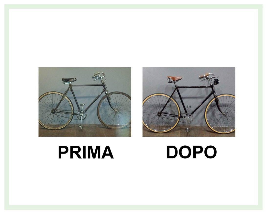 restauro bicicletta bianchi modello zaffiro del 1952