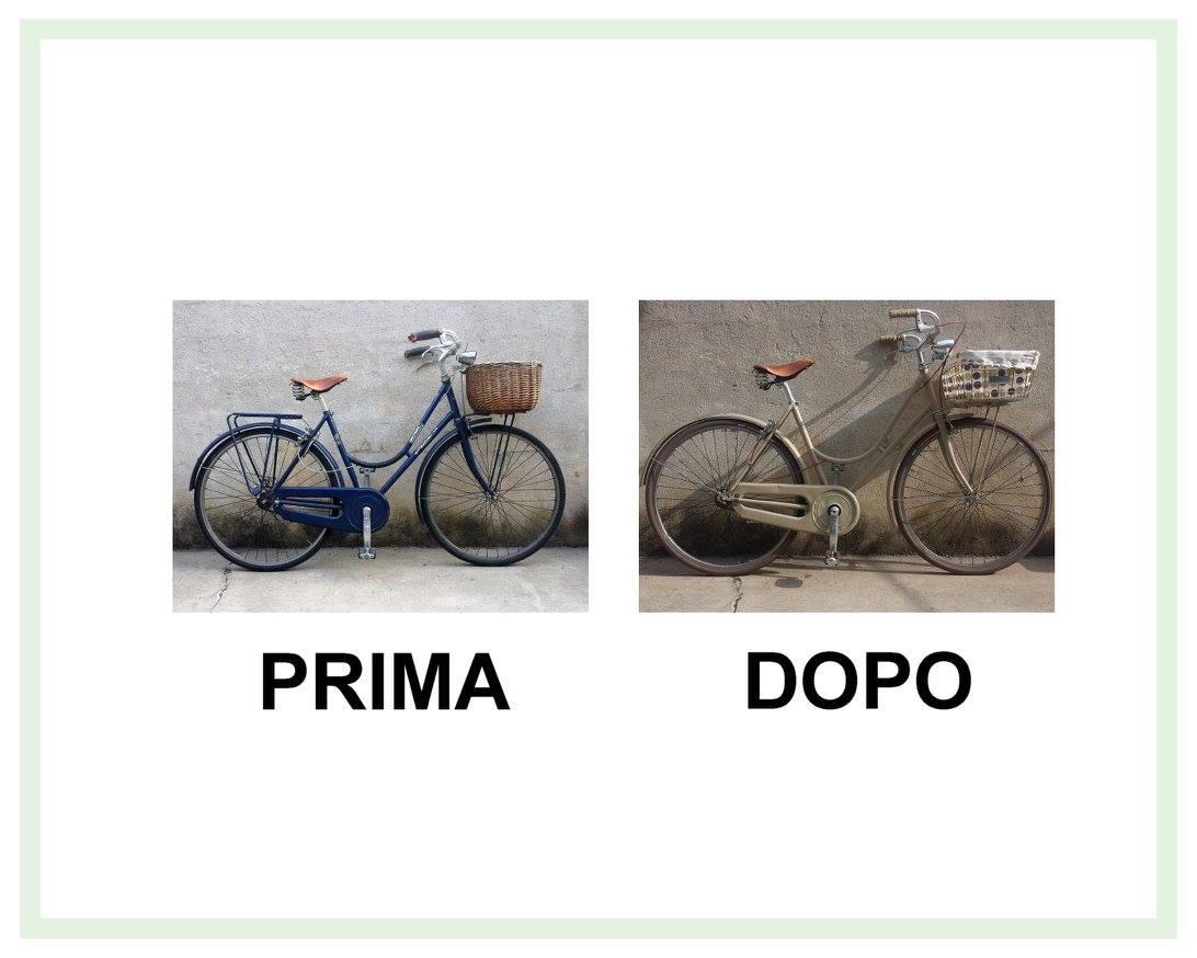 restauro bicicletta da donna Alpina