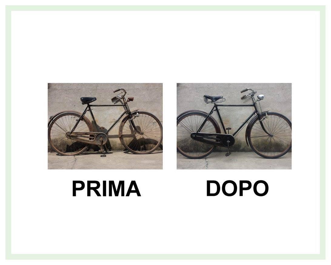 restauro di una bicicletta umberto dei imperiale del 1954