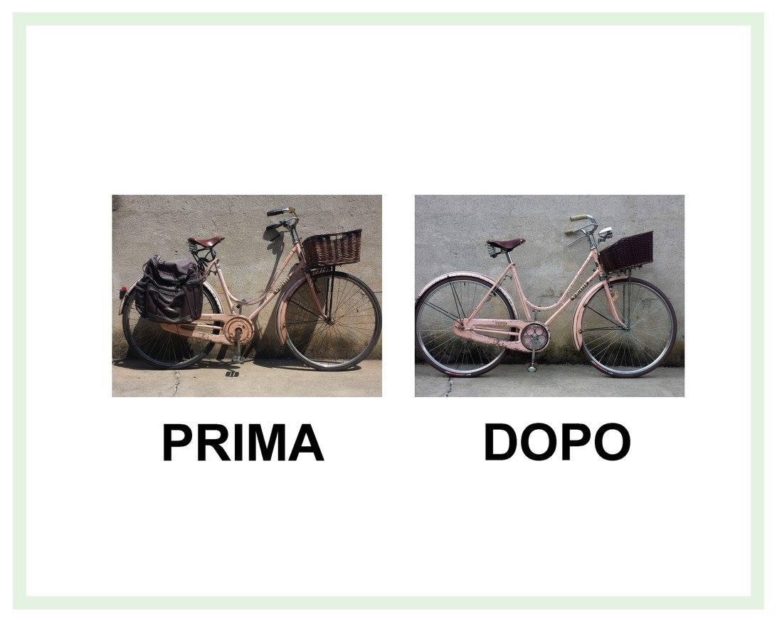 restauro bicicletta da donna vicini