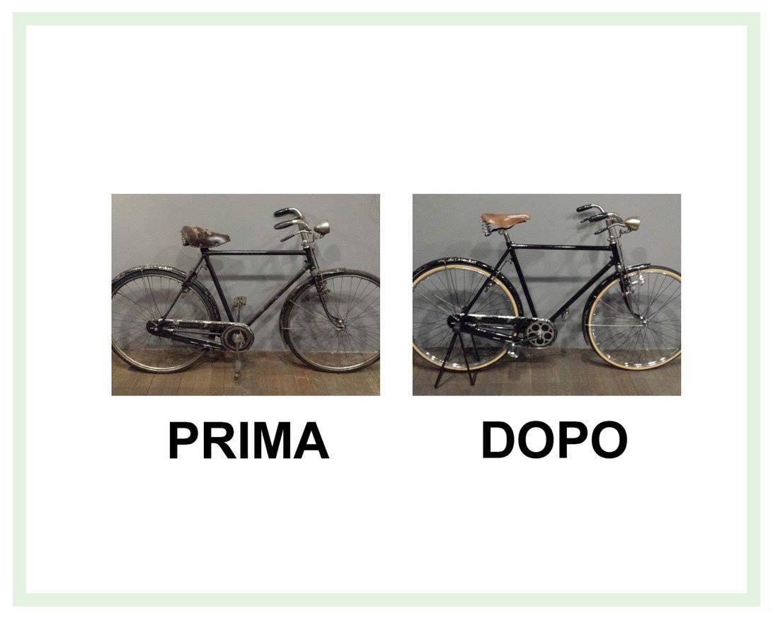 restauro bicicletta bianche del 1960